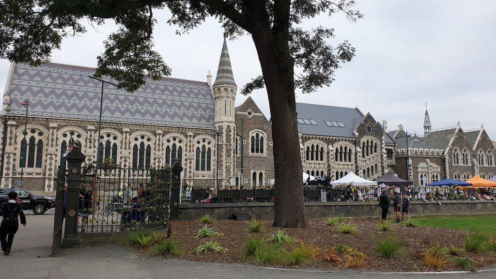 entrée du jardin botanique Christchurch