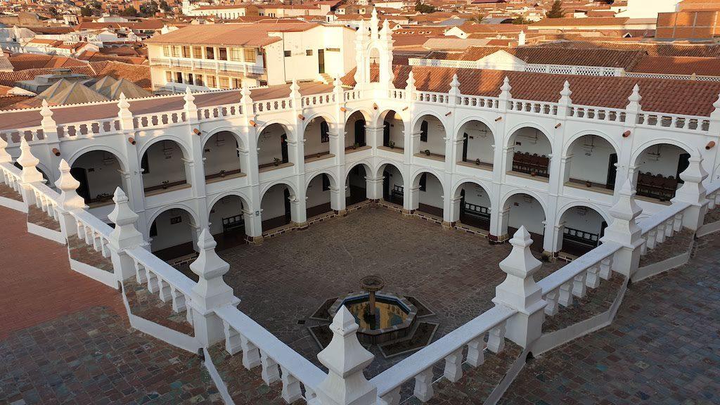 Cloître du couvent San Felipe Neri sucre coup de coeur de la bolivie