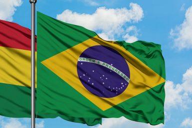 drapeaux brésil bolivie