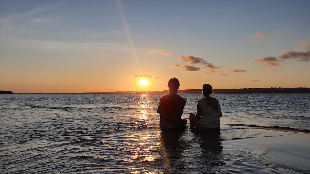 coucher de soleil Passeio de Barco Solemio Pipa