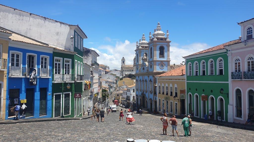 Largo do Pelourinho à Salvador de Bahia