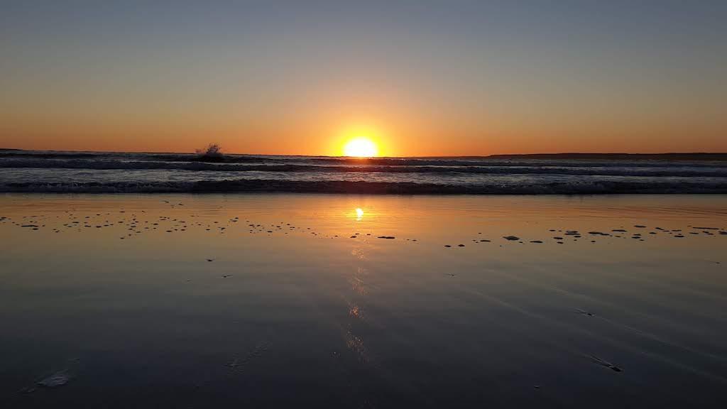 coucher soleil plage sud Cabo Polonio