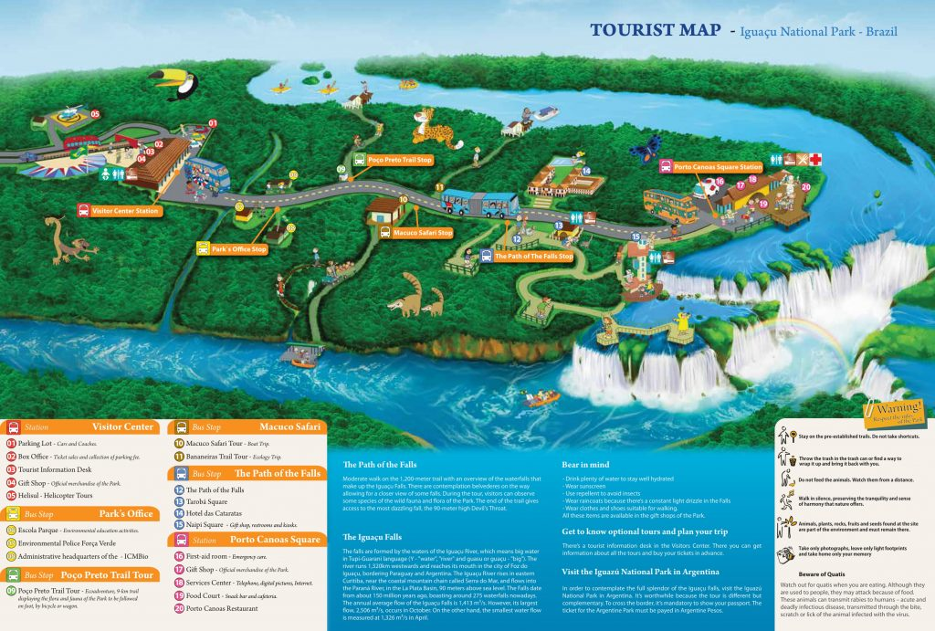 plan chutes Iguaçu Bresil