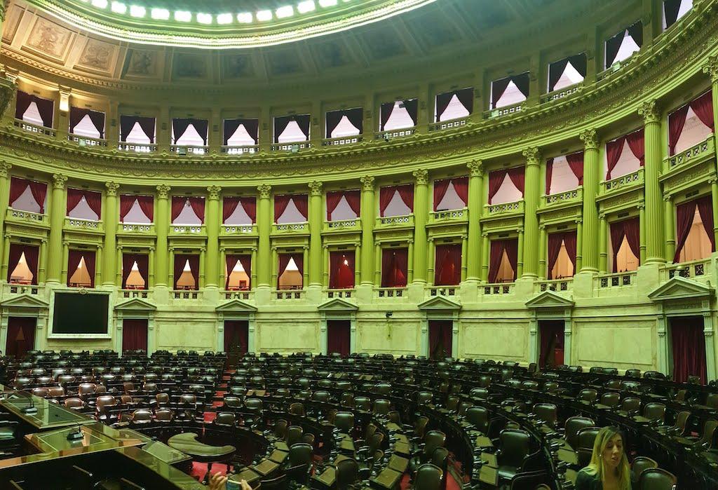 Congreso National qui peut se visiter à Buenos Aires