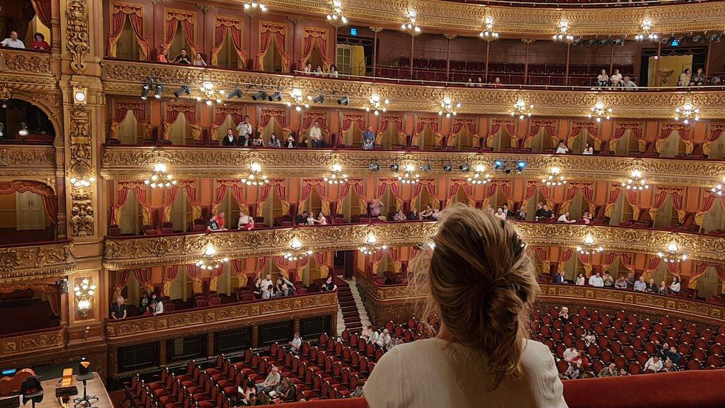 Teatro Colon pendant notre visite de Buenos Aires