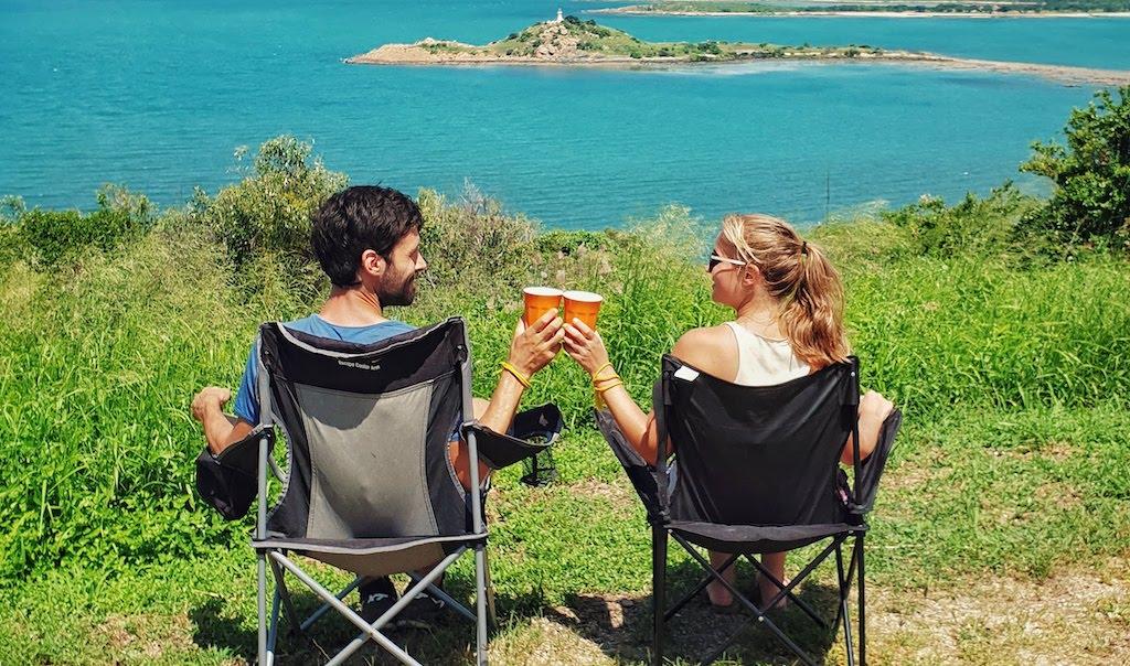 Chaise de camping en tour du monde