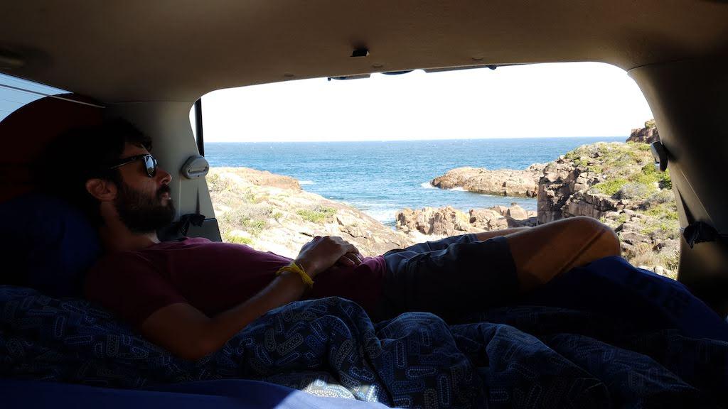 sieste pendant location de van en australie